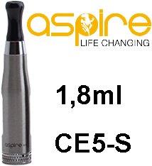 aSpire CE5-S BDC Clearomizer 1,8ohm 1,8ml Silver
