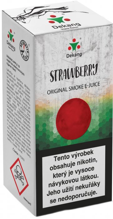 Liquid Dekang Strawberry 10ml - 3mg (Jahoda)