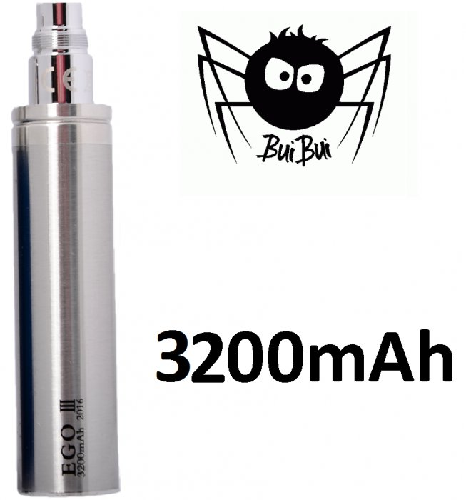 BuiBui GS eGo III baterie 3200mAh Silver