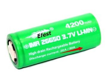 Efest baterie typ 26650 4200mAh 50A