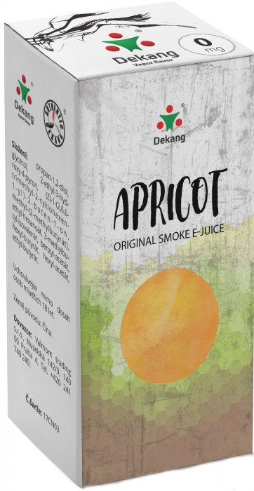 Liquid Dekang Apricot 10ml - 0mg (Meruňka)