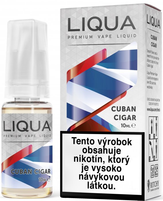 Liquid LIQUA SK Elements Cuban Tobacco 10ml-12mg (Kubánský doutník)