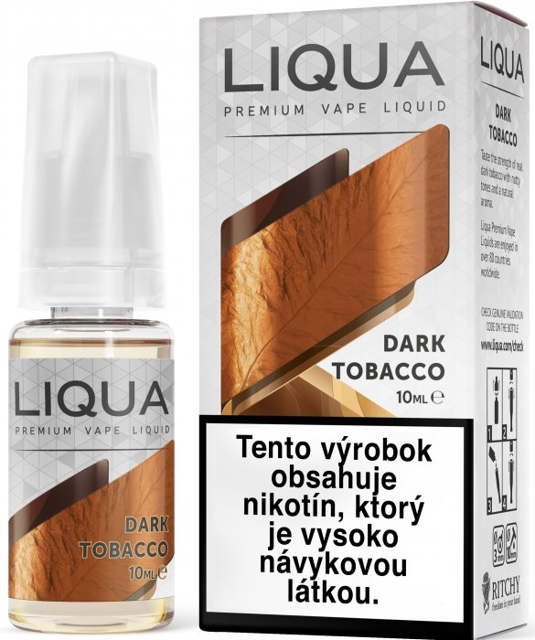 Liquid LIQUA SK Elements Dark Tobacco 10ml-3mg (Silný tabák)