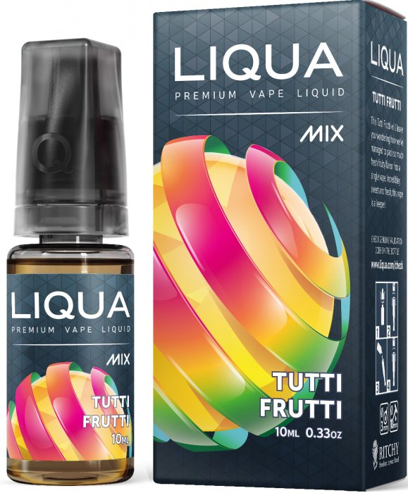 Liquid LIQUA CZ MIX Tutti Frutti 10ml-0mg