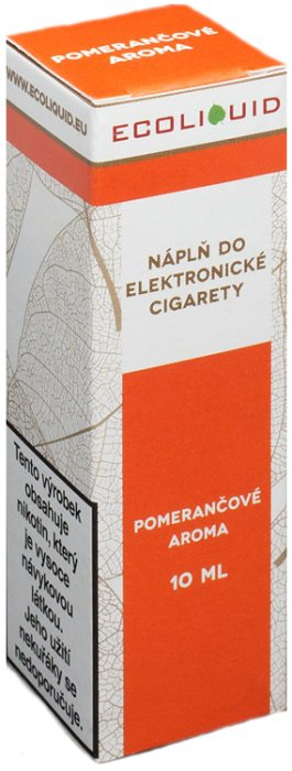 Liquid Ecoliquid Orange 10ml - 18mg (Pomeranč)