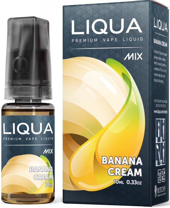 Liquid LIQUA CZ MIX Banana Cream 10ml-0mg