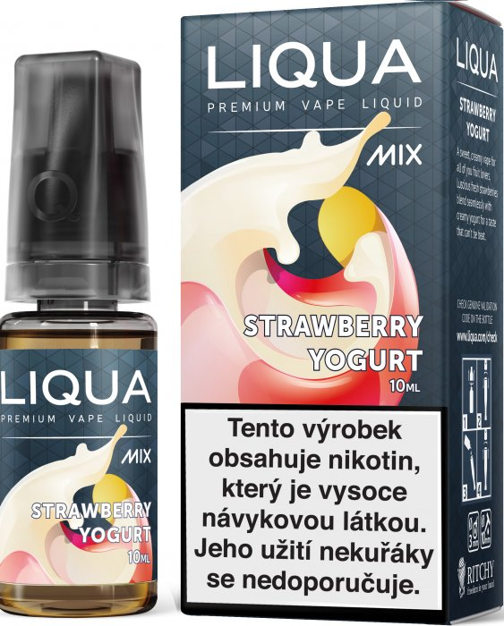 Liquid LIQUA CZ MIX Strawberry Yogurt 10ml-3mg
