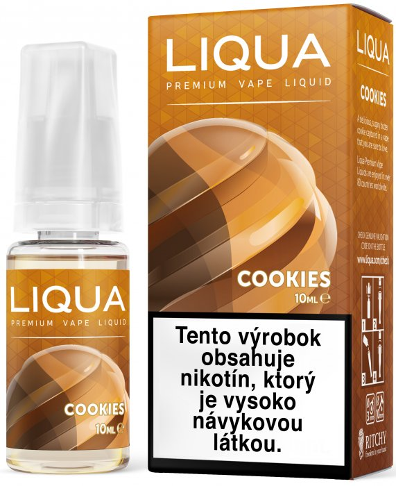 Liquid LIQUA SK Elements Cookies 10ml-3mg (Sušenka)