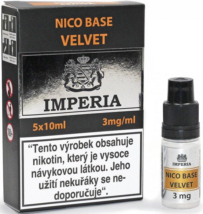 Nikotinová báze CZ IMPERIA Velvet 5x10ml PG20-VG80 3mg