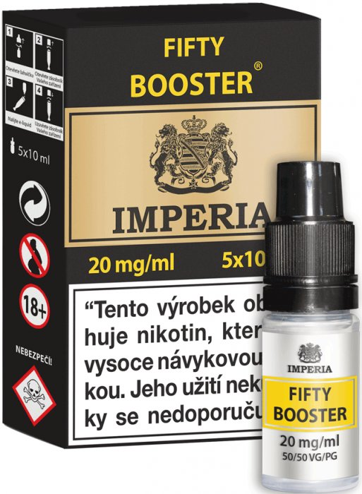 Fifty Booster CZ IMPERIA 5x10ml PG50-VG50 20mg
