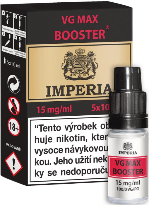 VG Max Booster CZ IMPERIA 5x10ml VG100 15mg