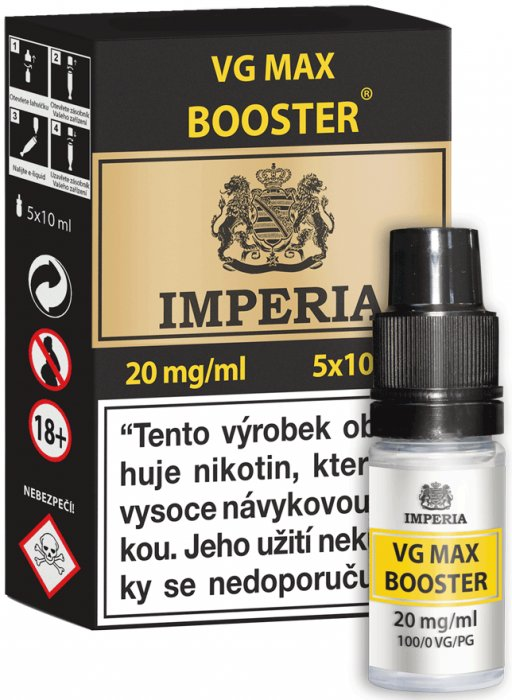 VG Max Booster CZ IMPERIA 5x10ml VG100 20mg