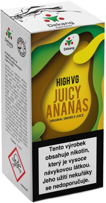 Liquid Dekang High VG Juicy Ananas 10ml - 6mg (Šťavnatý ananas)