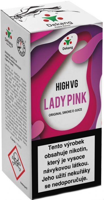 Liquid Dekang High VG Lady Pink 10ml - 6mg (Borůvka s broskví)