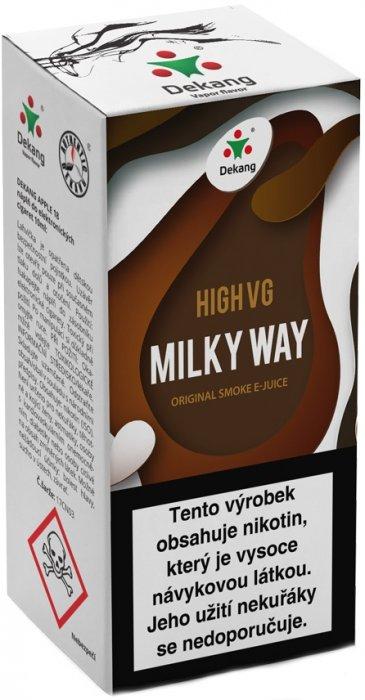 Liquid Dekang High VG Milky Way 10ml - 1,5mg (Tvarohový koláč s mandlemi)