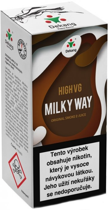 Liquid Dekang High VG Milky Way 10ml - 6mg (Tvarohový koláč s mandlemi)