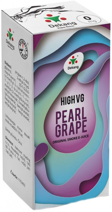 Liquid Dekang High VG Pearl Grape 10ml - 0mg (Hrozny s mátou)