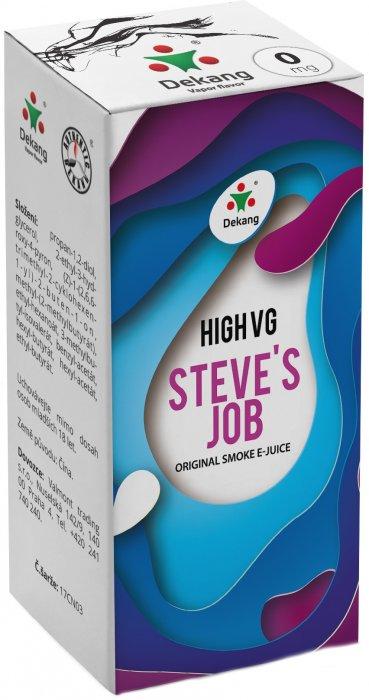 Liquid Dekang High VG Steve´s Job 10ml - 0mg (Sladké a kyselé jablko)