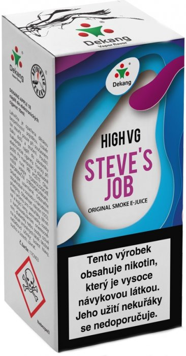Liquid Dekang High VG Steve´s Job 10ml - 6mg (Sladké a kyselé jablko)