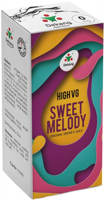 Liquid Dekang High VG Sweet Melody 10ml - 0mg (Broskev s citrónem)