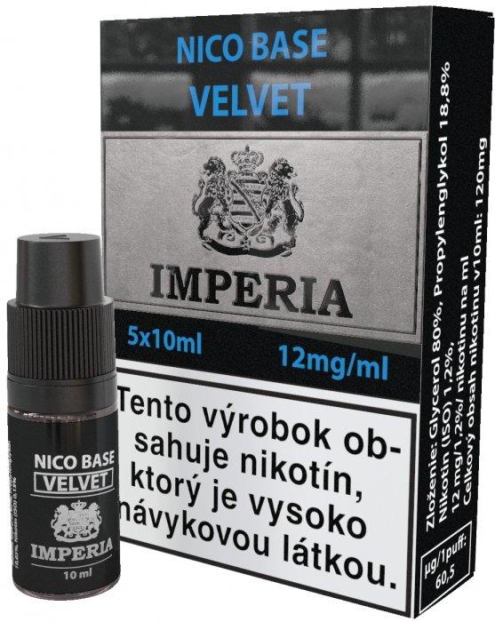 Nikotinová báze SK IMPERIA Velvet 5x10ml PG20-VG80 12mg