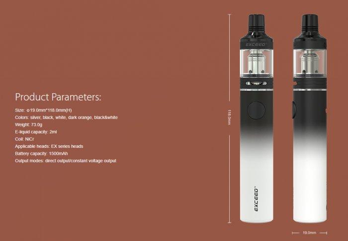 Joyetech EXCEED D19 elektronická cigareta 1500mAh White