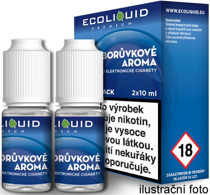 Liquid Ecoliquid Premium 2Pack Blueberry 2x10ml - 6mg (Borůvka)
