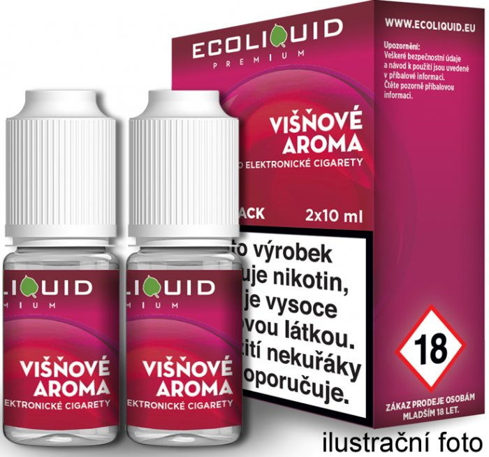 Liquid Ecoliquid Premium 2Pack Cherry 2x10ml - 18mg (Višeň)