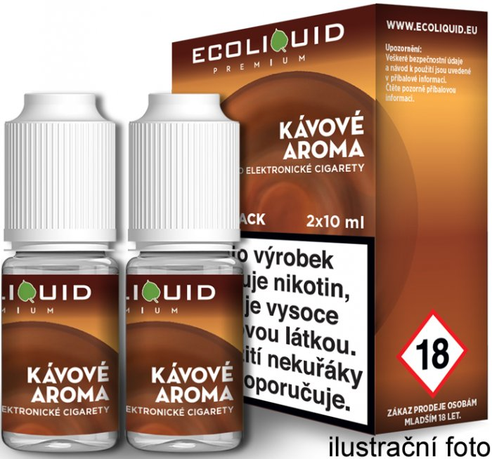 Liquid Ecoliquid Premium 2Pack Coffee 2x10ml - 20mg (Káva)