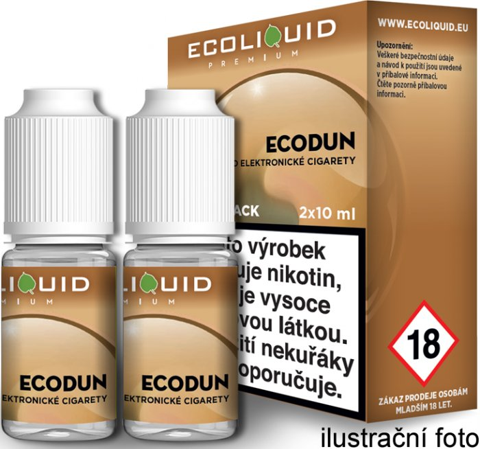 Liquid Ecoliquid Premium 2Pack ECODUN 2x10ml - 0mg