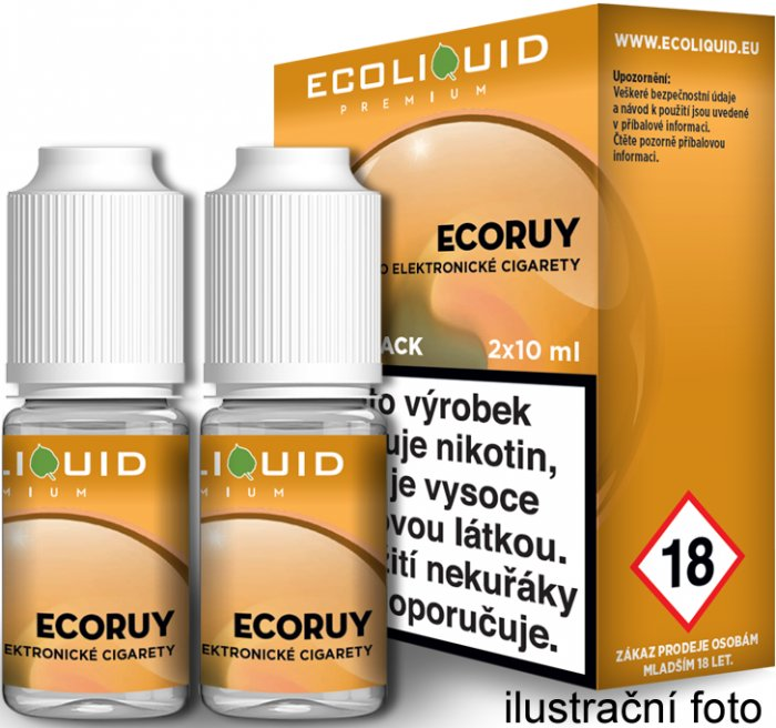Liquid Ecoliquid Premium 2Pack ECORUY 2x10ml - 18mg