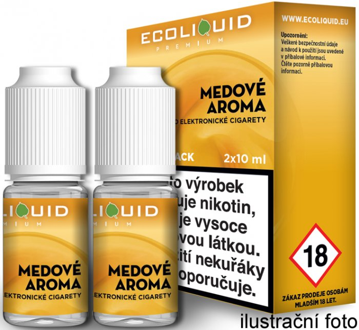 Liquid Ecoliquid Premium 2Pack Honey 2x10ml - 12mg (Med)