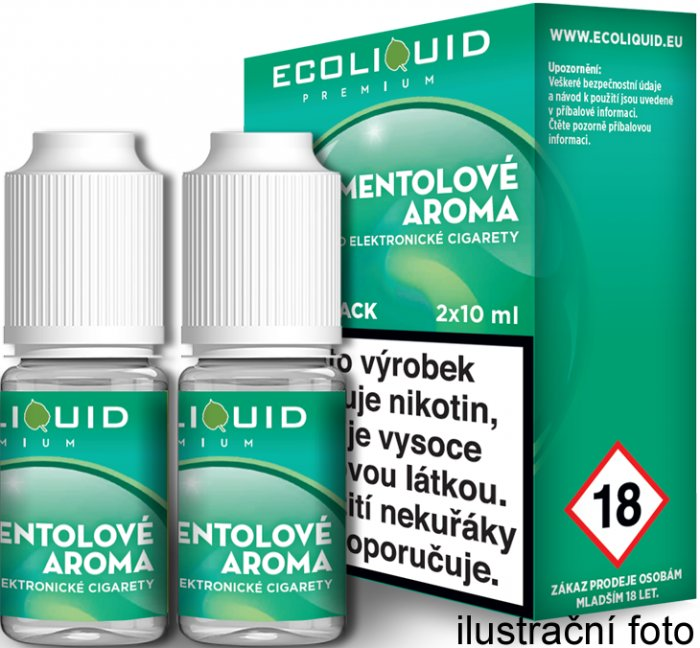 Liquid Ecoliquid Premium 2Pack Menthol 2x10ml - 12mg