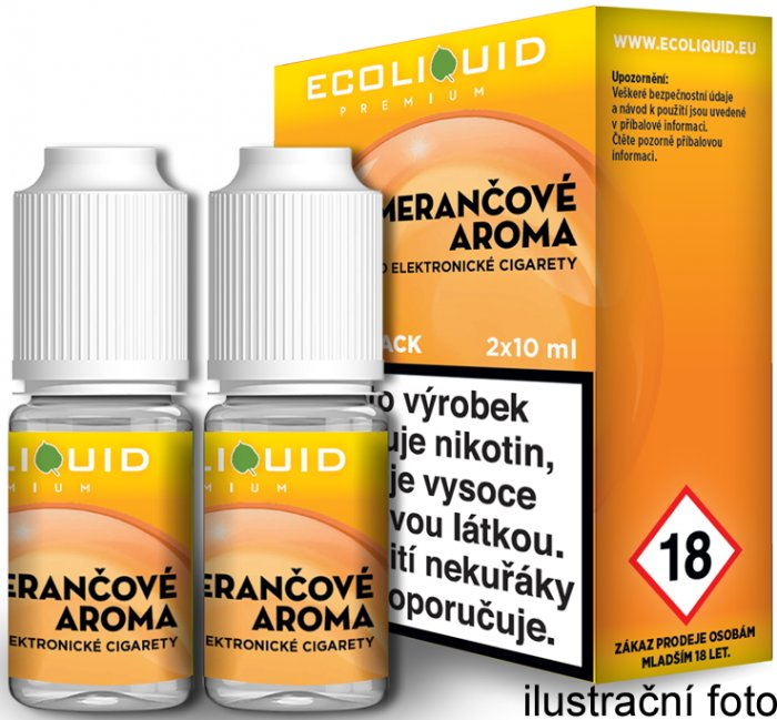 Liquid Ecoliquid Premium 2Pack Orange 2x10ml - 12mg (Pomeranč)