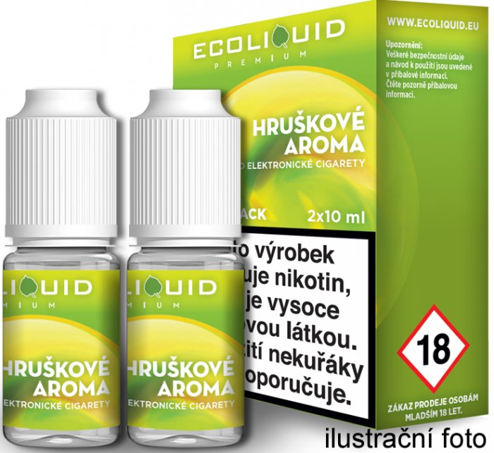Liquid Ecoliquid Premium 2Pack Pear 2x10ml - 6mg (Hruška)