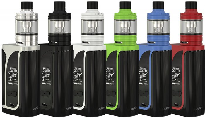 iSmoka-Eleaf iKuun i200 grip 4600mAh Full Kit D25 Silver