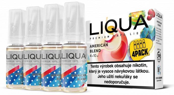 Liquid LIQUA CZ Elements 4Pack American Blend 4x10ml-3mg (Americký míchaný tabák)
