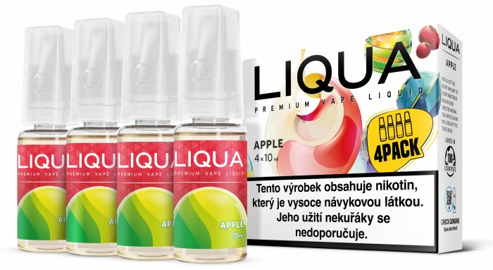 Liquid LIQUA CZ Elements 4Pack Apple 4x10ml-3mg (jablko)