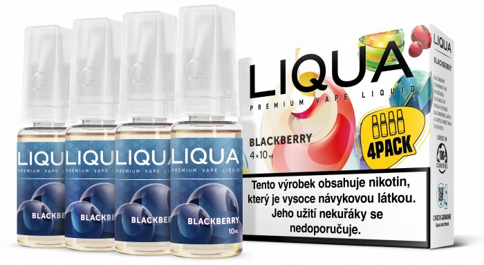 Liquid LIQUA CZ Elements 4Pack Blackberry 4x10ml-3mg (ostružina)