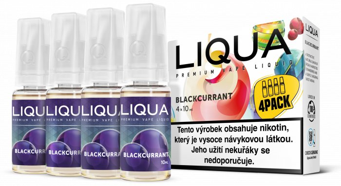 Liquid LIQUA CZ Elements 4Pack Blackcurrant 4x10ml-3mg (černý rybíz)
