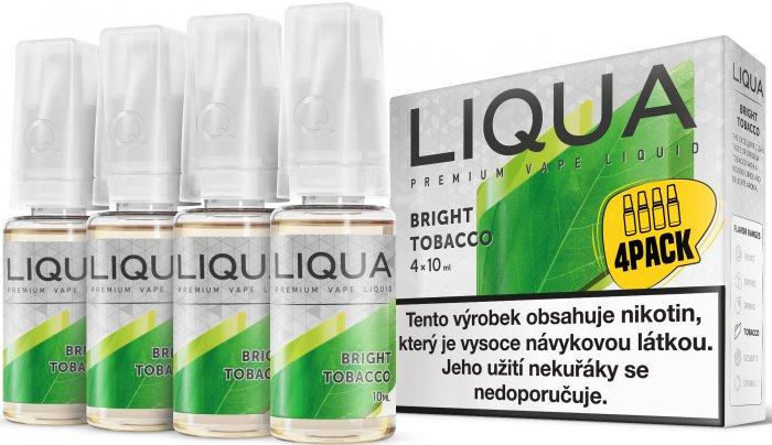 Liquid LIQUA CZ Elements 4Pack Bright tobacco 4x10ml-6mg (čistá tabáková příchuť)