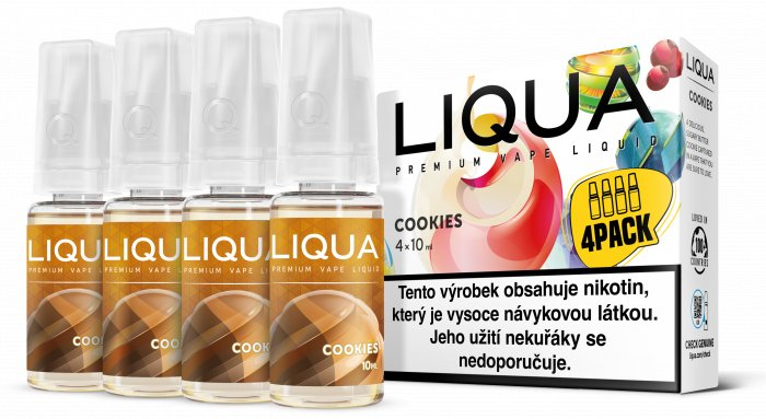 Liquid LIQUA CZ Elements 4Pack Cookies 4x10ml-6mg (Sušenka)