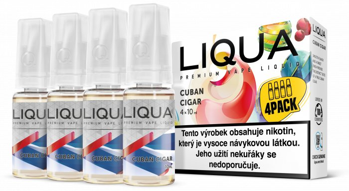 Liquid LIQUA CZ Elements 4Pack Cuban Cigar tobacco 4x10ml-6mg (Kubánský doutník)