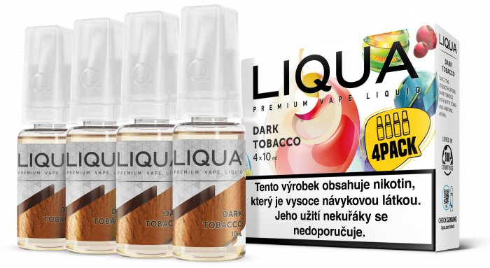 Liquid LIQUA CZ Elements 4Pack Dark tobacco 4x10ml-3mg (Silný tabák)