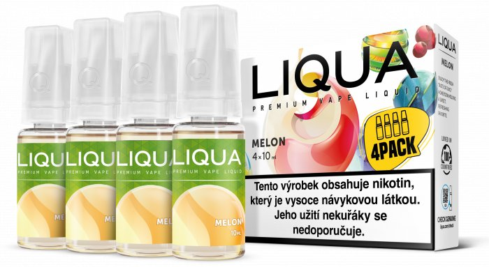 Liquid LIQUA CZ Elements 4Pack Melon 4x10ml-3mg (Žlutý meloun)