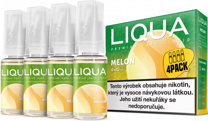 Liquid LIQUA CZ Elements 4Pack Melon 4x10ml-6mg (Žlutý meloun)