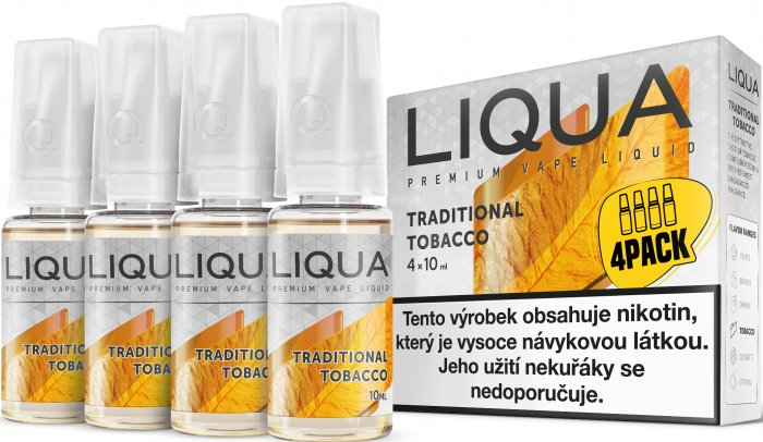 Liquid LIQUA CZ Elements 4Pack Traditional tobacco 4x10ml-12mg (Tradiční tabák)