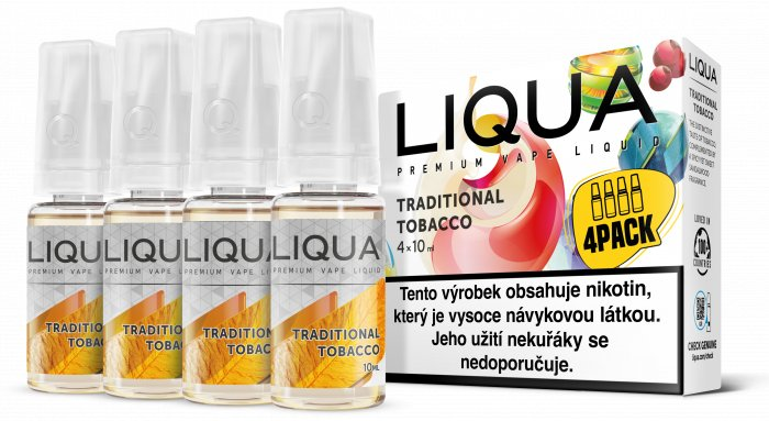 Liquid LIQUA CZ Elements 4Pack Traditional tobacco 4x10ml-3mg (Tradiční tabák)