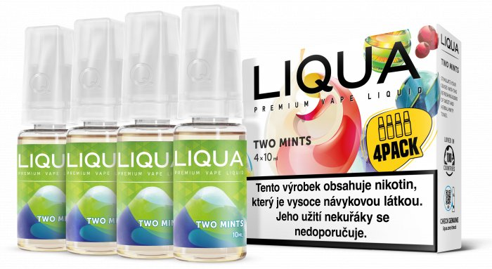 Liquid LIQUA CZ Elements 4Pack Two mints 4x10ml-12mg (Chuť máty a mentolu)