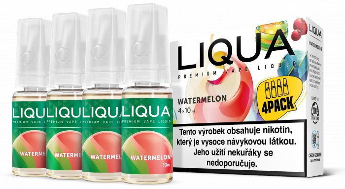 Liquid LIQUA CZ Elements 4Pack Watermellon 4x10ml-3mg (Vodní meloun)